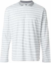 Jersey con cuello circular de rayas horizontales gris de Eleventy