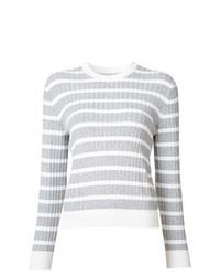 Jersey con cuello circular de rayas horizontales gris de Misha Nonoo