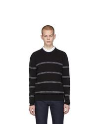 Jersey con cuello circular de rayas horizontales negro de Versace
