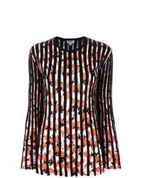 Jersey con cuello circular de rayas verticales negro de Kenzo