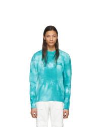 Jersey con cuello circular efecto teñido anudado en turquesa de Off-White