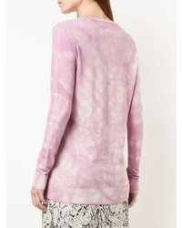 Jersey con cuello circular efecto teñido anudado violeta claro de Stella McCartney