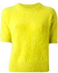 Jersey con cuello circular en amarillo verdoso
