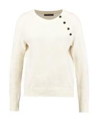 Jersey con cuello circular en beige de Abercrombie & Fitch