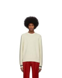Jersey con cuello circular en beige de Alexander McQueen