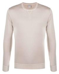 Jersey con cuello circular en beige de Eleventy