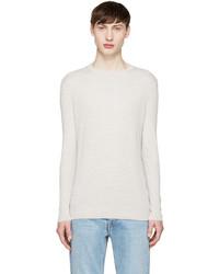 Jersey con cuello circular en beige de Helmut Lang