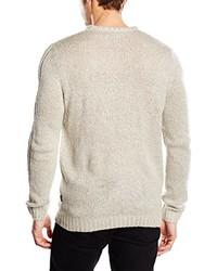 Jersey con cuello circular en beige de Jack & Jones