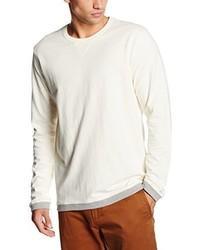 Jersey con cuello circular en beige de Lee