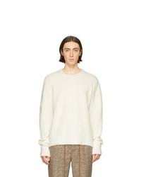 Jersey con cuello circular en beige de Nanushka