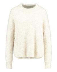 Jersey con cuello circular en beige de Opus