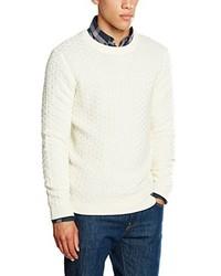 Jersey con cuello circular en beige de Selected Homme