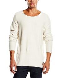 Jersey con cuello circular en beige de Tom Tailor Denim