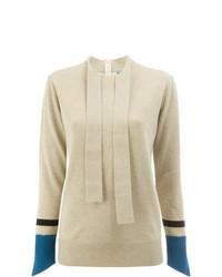 Jersey con cuello circular en beige de Undercover