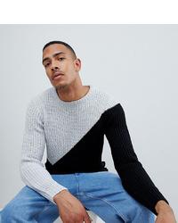 Jersey con cuello circular en blanco y negro de D-struct