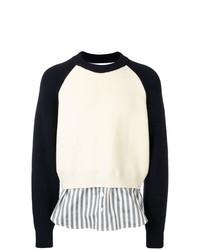 Jersey con cuello circular en blanco y negro de Sunnei