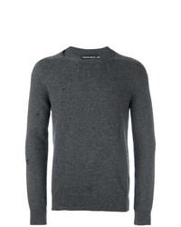 Jersey con cuello circular en gris oscuro de Alexander McQueen