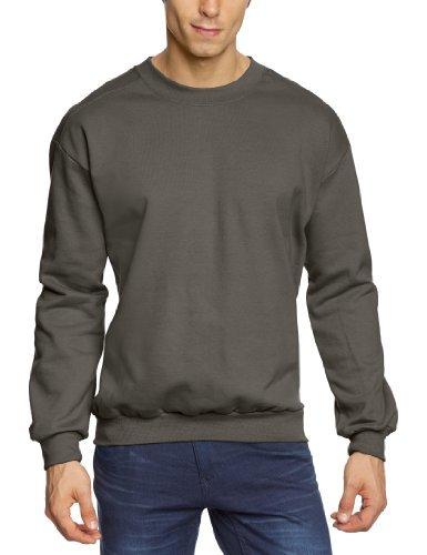 Jersey con cuello circular en gris oscuro de Anvil