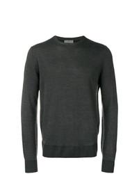 Jersey con cuello circular en gris oscuro de Canali