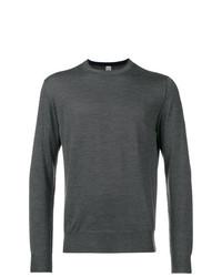 Jersey con cuello circular en gris oscuro de Eleventy