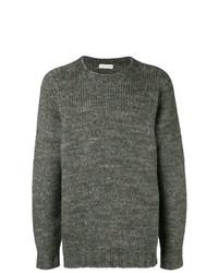 Jersey con cuello circular en gris oscuro de Etro