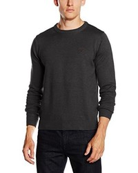 Jersey con cuello circular en gris oscuro de Gant