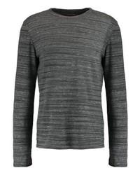 Jersey con cuello circular en gris oscuro de Gap