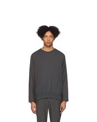 Jersey con cuello circular en gris oscuro de Issey Miyake Men