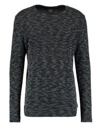 Jersey con cuello circular en gris oscuro de Jack & Jones