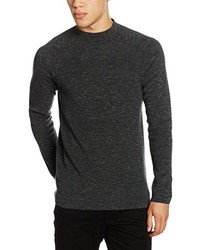 Jersey con cuello circular en gris oscuro de JACK & JONES PREMIUM