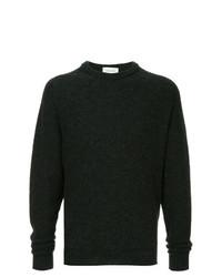 Jersey con cuello circular en gris oscuro de Lemaire