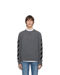 Jersey con cuello circular en gris oscuro de Off-White