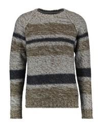Jersey con cuello circular en gris oscuro de ONLY & SONS
