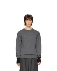 Jersey con cuello circular en gris oscuro de Random Identities