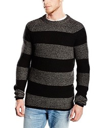 Jersey con cuello circular en gris oscuro de Selected
