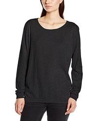 Jersey con cuello circular en gris oscuro de Vero Moda