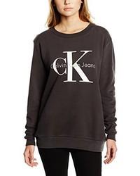 Jersey con cuello circular en marrón oscuro de Calvin Klein
