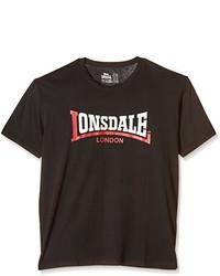 Jersey con cuello circular en marrón oscuro de Lonsdale
