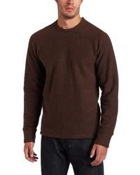 Jersey con cuello circular en marrón oscuro de Prana