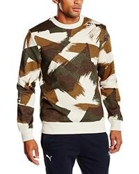 Jersey con cuello circular en marrón oscuro de Puma