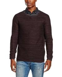Jersey con cuello circular en marrón oscuro de Selected Homme