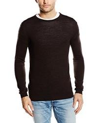 Jersey con cuello circular en marrón oscuro de Selected