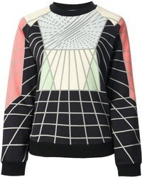 Jersey con cuello circular en multicolor