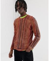Jersey con cuello circular en multicolor de ASOS DESIGN