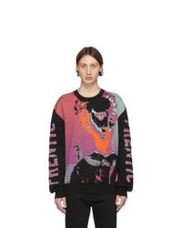 Jersey con cuello circular en multicolor de McQ Alexander McQueen