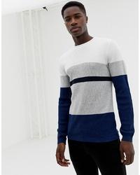 Jersey con cuello circular en multicolor de Selected Homme