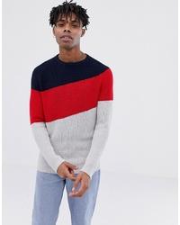 Jersey con cuello circular en multicolor de Tom Tailor