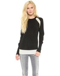 Jersey con cuello circular en negro y blanco original 4220643