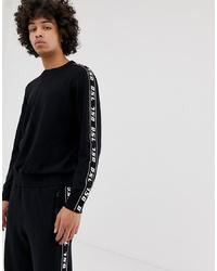 Jersey con cuello circular en negro y blanco de Diesel