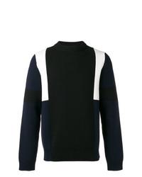Jersey con cuello circular en negro y blanco de Marni